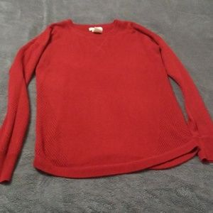 Small red sweater
